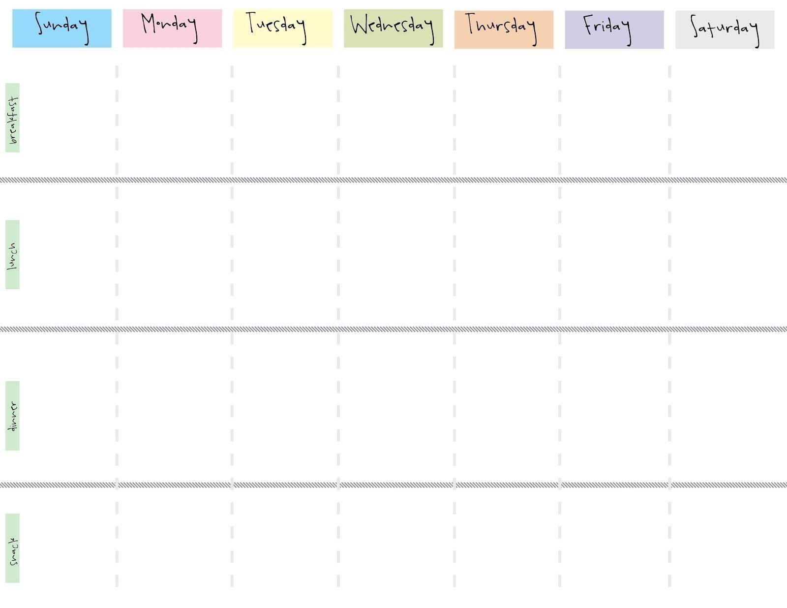 Cute Printable Blank Calendar Weekly Schedule | Weekly