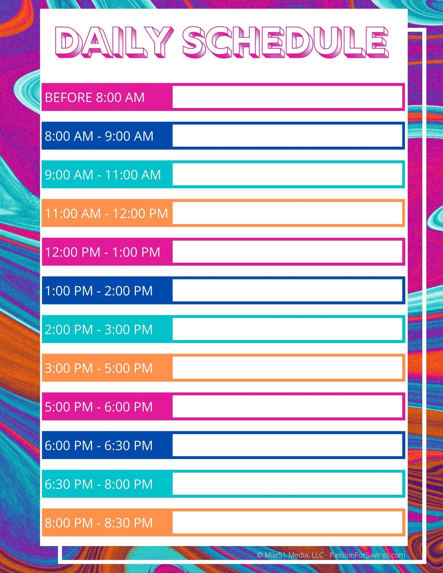 Daily Schedule For Kids While They Are All Home Right Now!