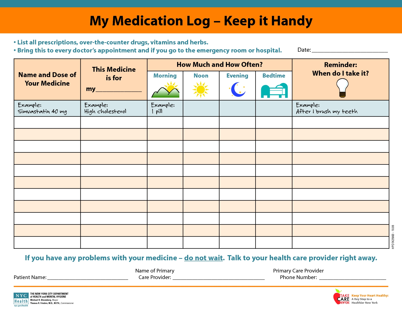 Daily+Medication+Schedule+Template | Medication Log