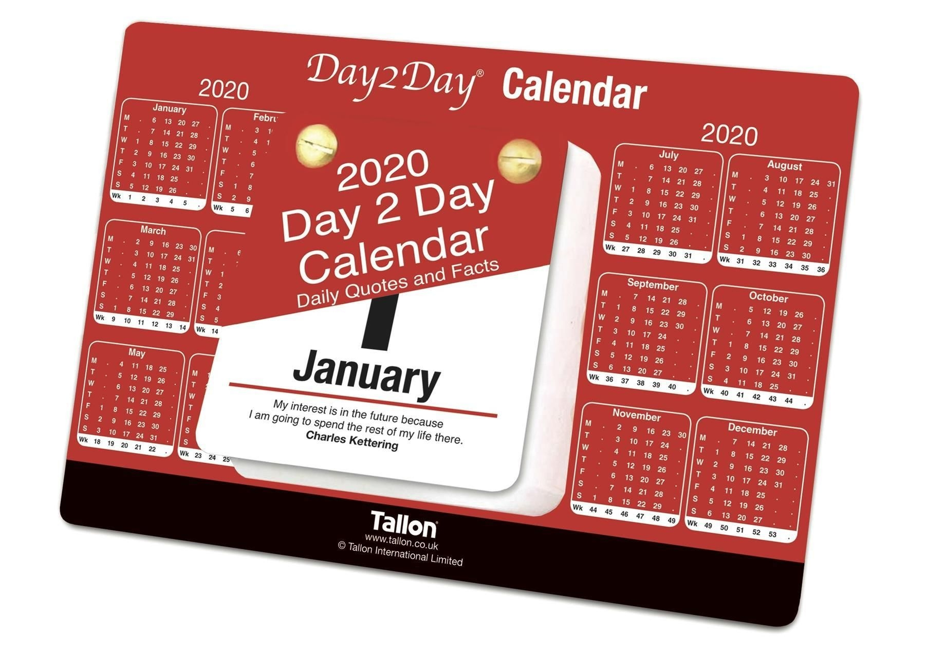 Details About 2020 Day To Day Desk Top Stand Up Tear Off Block Calendar -  Daily Quotes & Facts