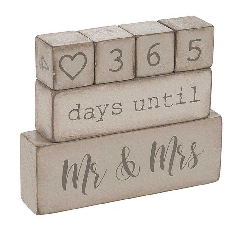 Details About Ganz Er49764 6 Piece Wooden Block Wedding Day Countdown  Calendar, Rustic
