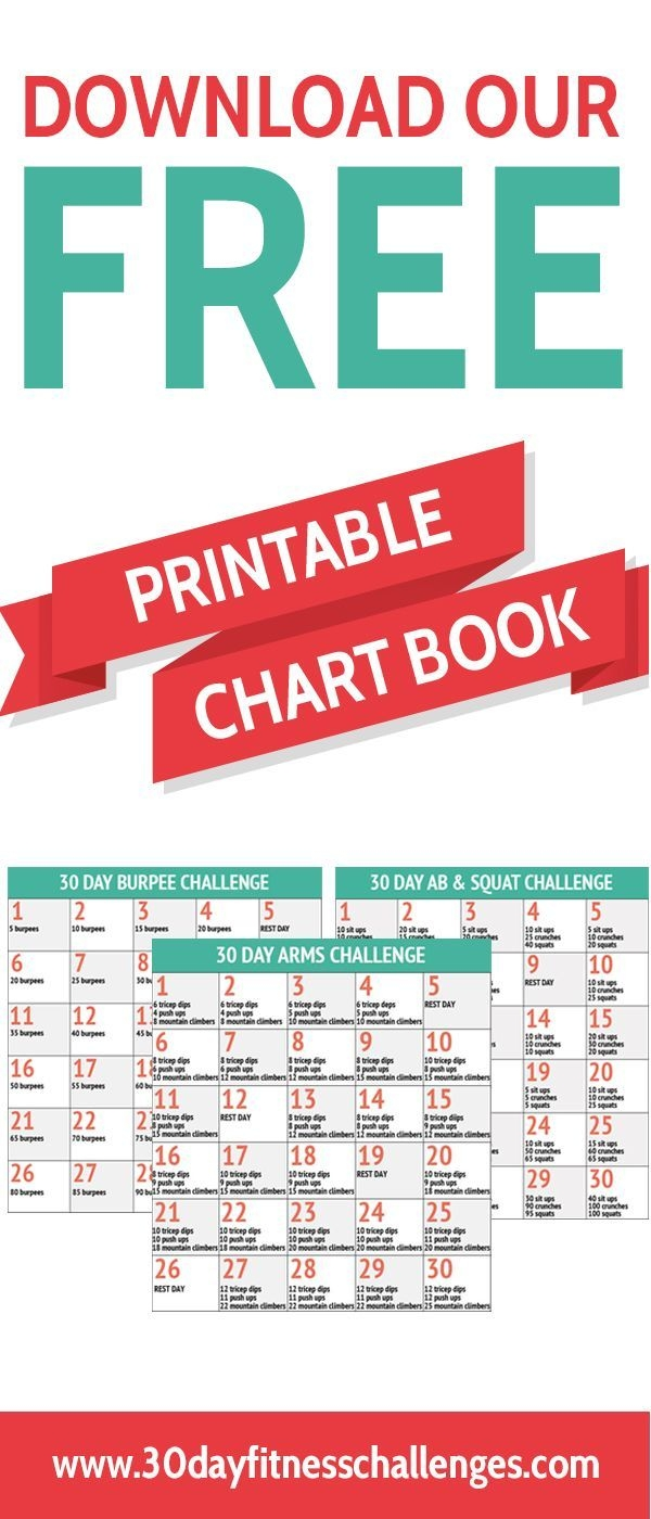 Download Our Free Printable 30 Day Fitness Challenge Chart