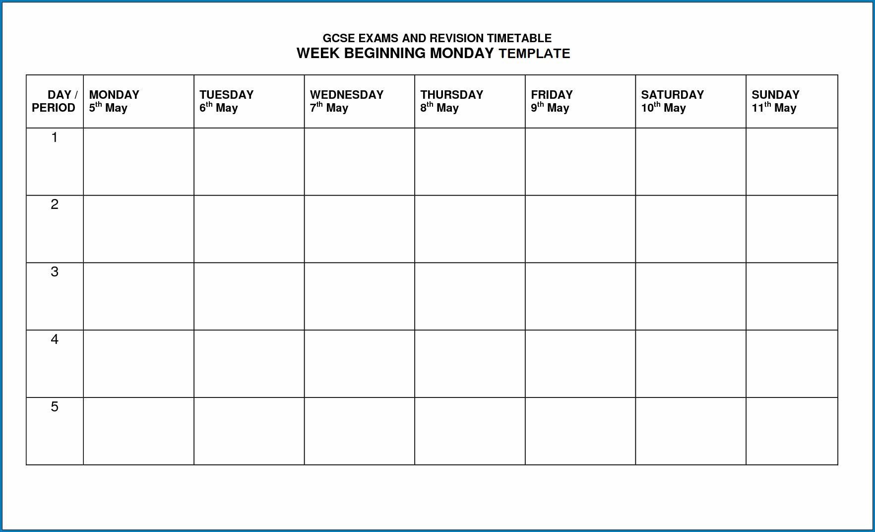 √ Free Printable Timetable Template In 2020 | Timetable