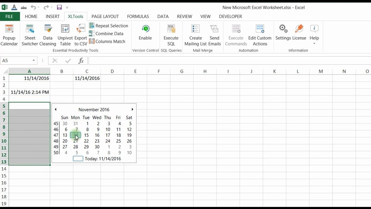Easily Insert And Edit Dates In Excel With The Popup Calendar