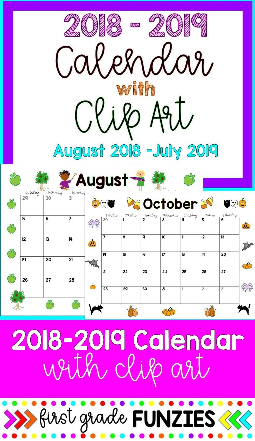 Editable Monthly Calendars - Color And B&w | Art Classroom