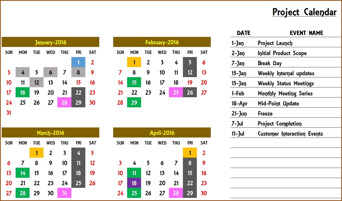 Event Calendar Maker Excel Template V3 - Support