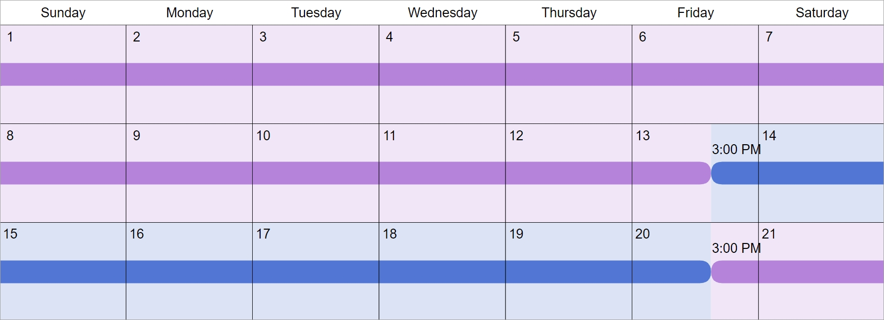 Every 3Rd Week Custody & Visitation Schedule Examples