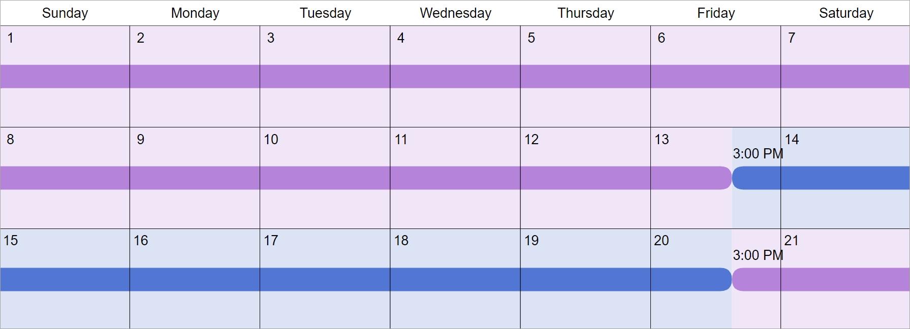 Every 3Rd Week Custody & Visitation Schedule Examples