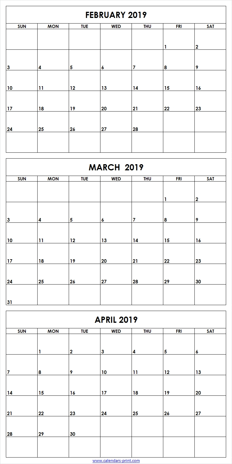 February March April 2019 Calendar (With Images)   2019