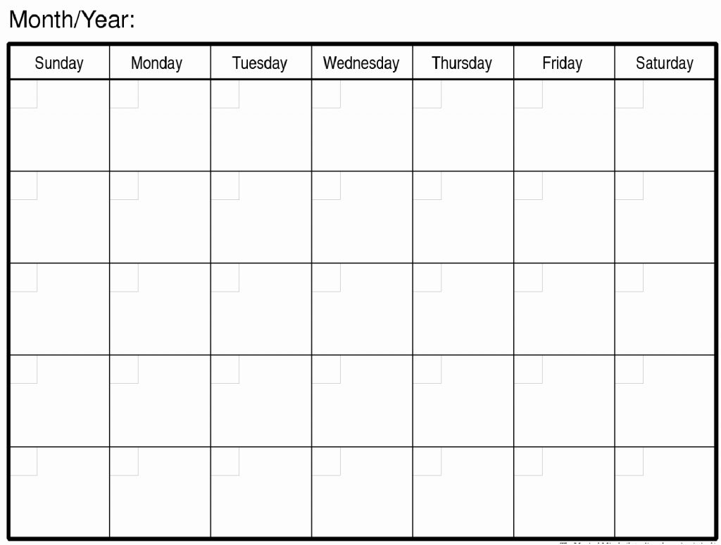 Fill In Monthly Calendar Printable - Calendar Inspiration Design