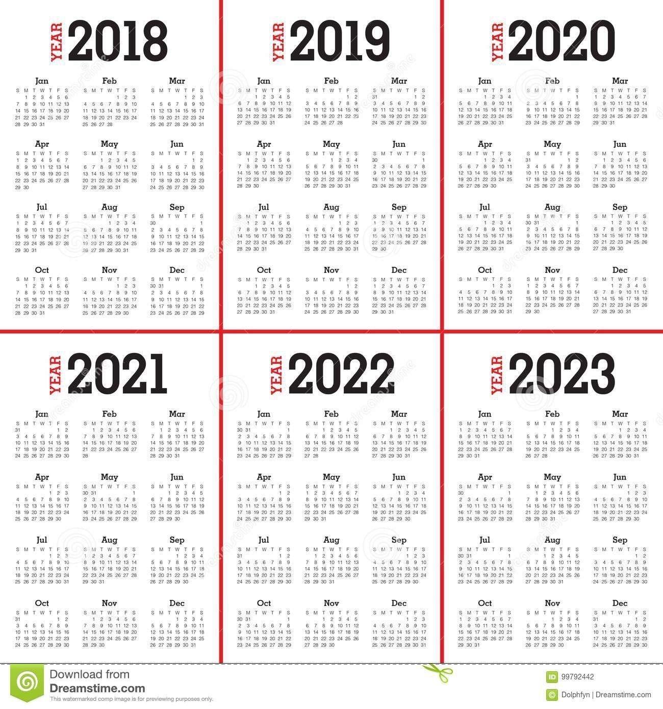 Free 5 Year Calendar Printable | Calendar Printables, Excel