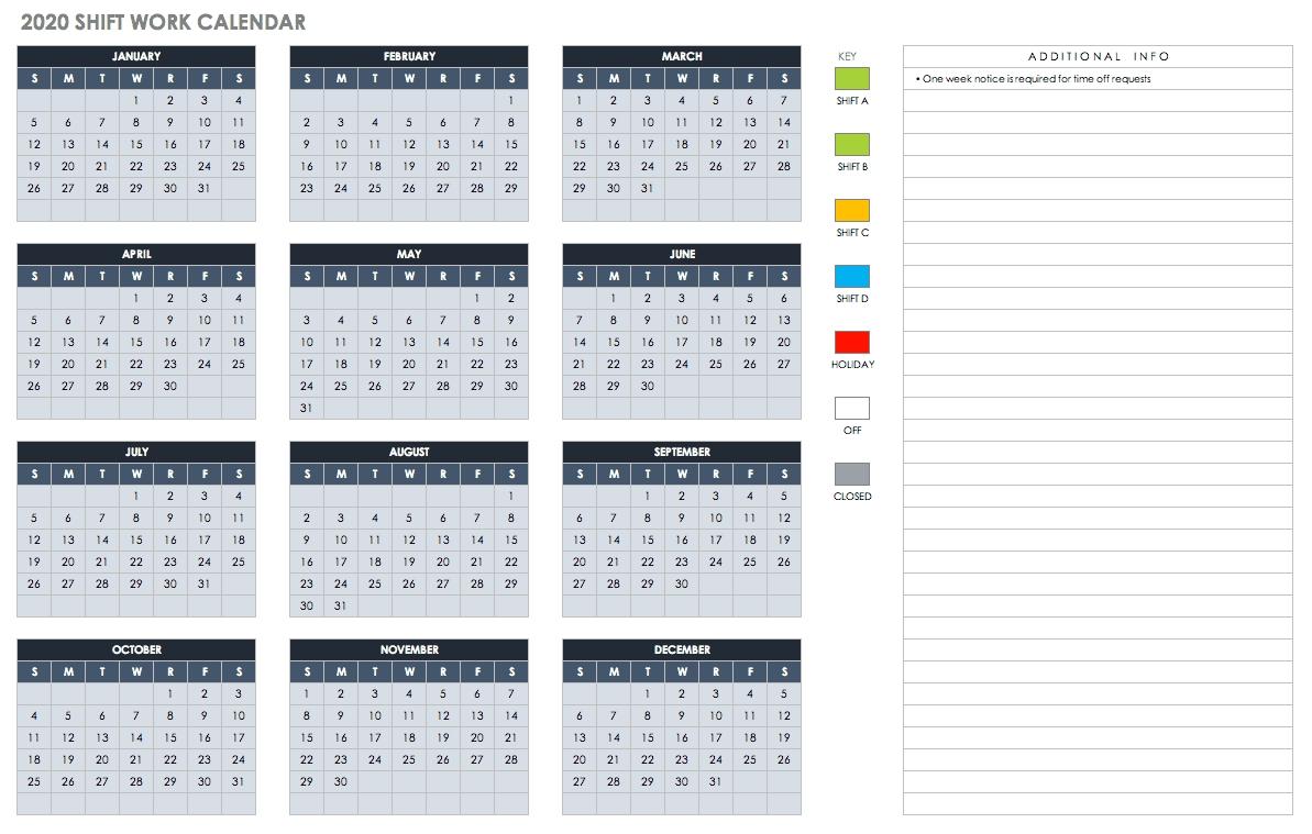 Free Blank Calendar Templates - Smartsheet