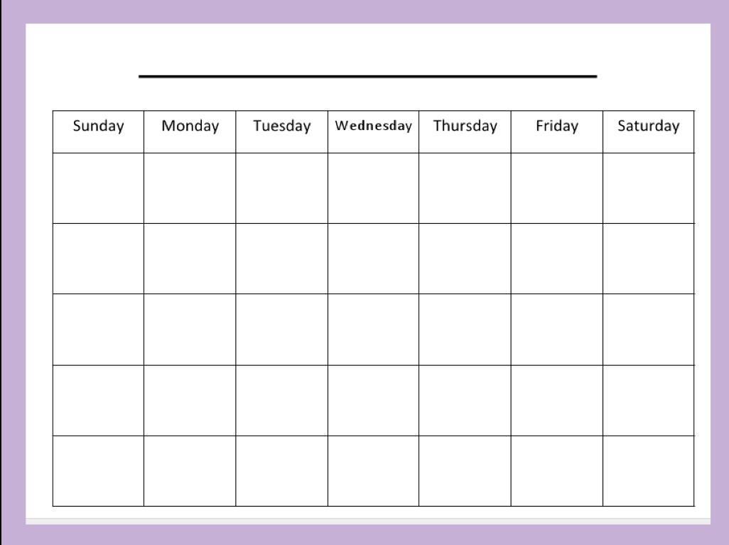 Free Blank Calendar Templates Smartsheet. Weekly Time