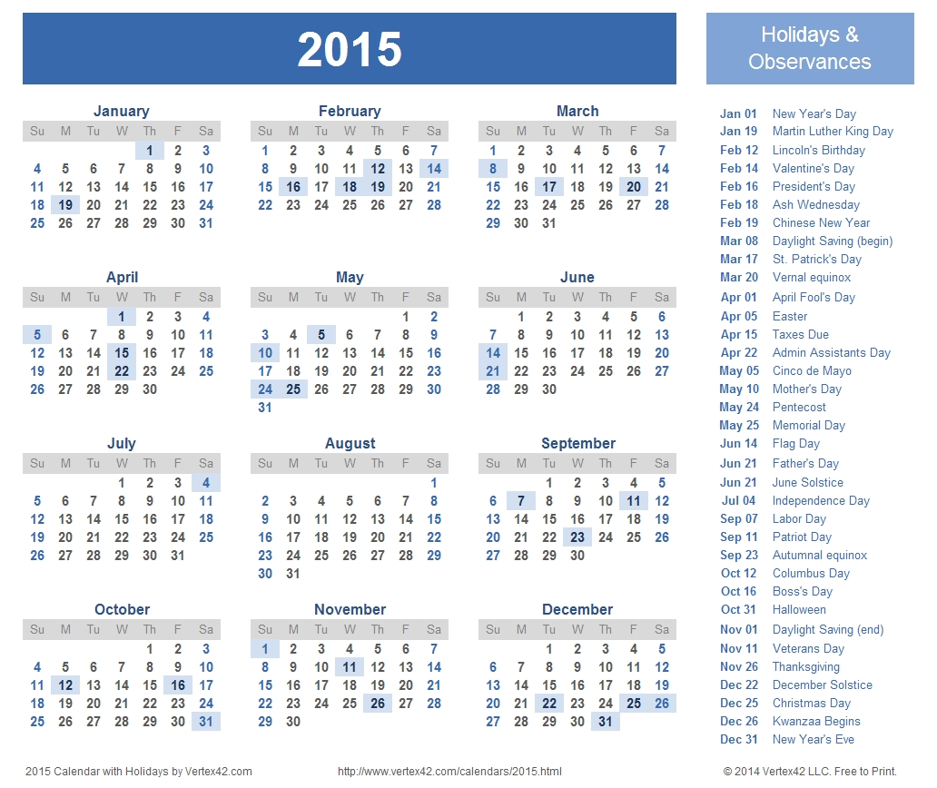 Free Calendars And Calendar Templates (With Images