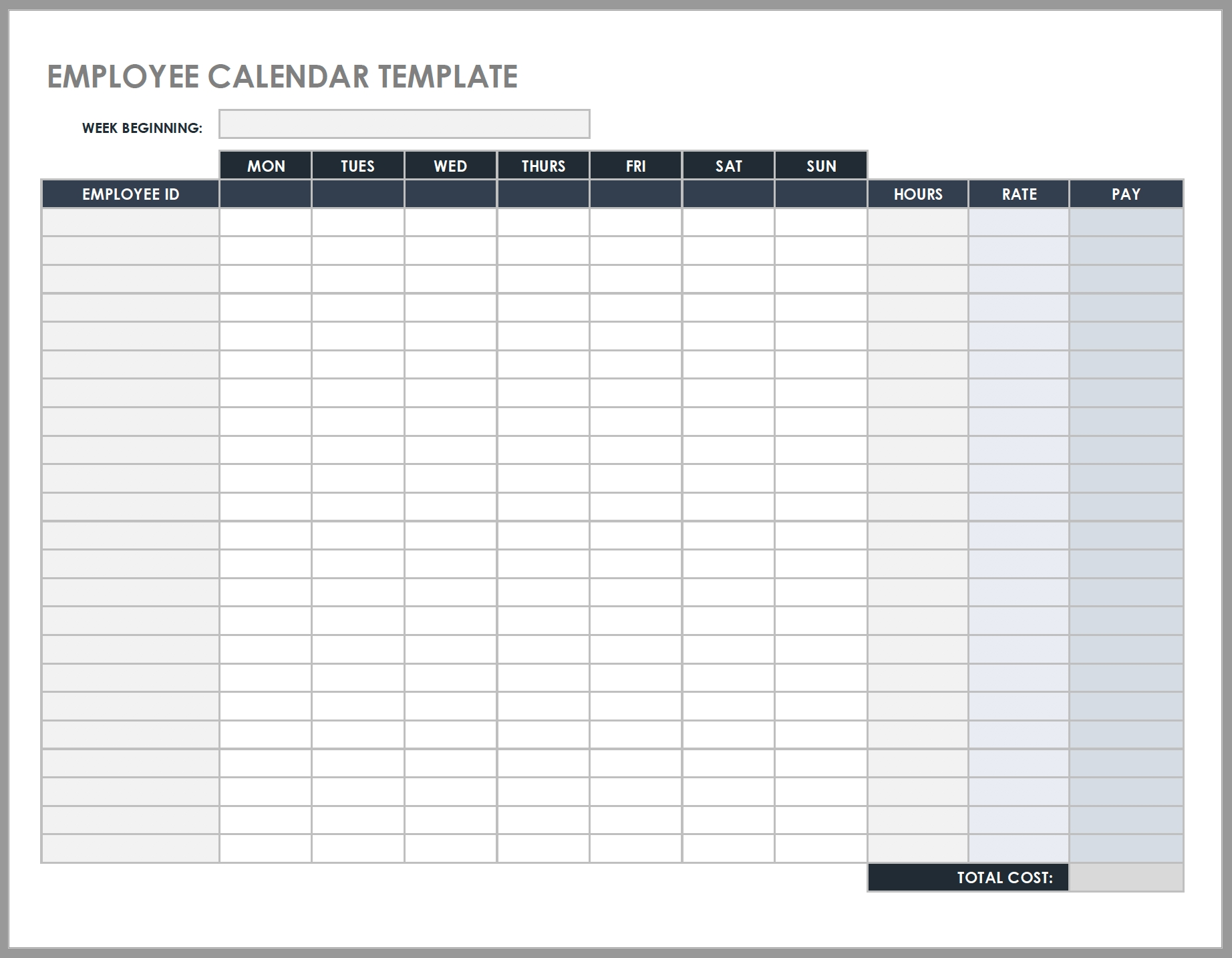 Free Daily Work Schedule Templates | Smartsheet