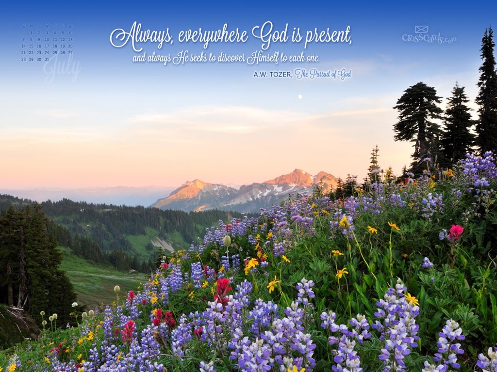 Free Download Crosscards Wallpaper Monthly Calendars July