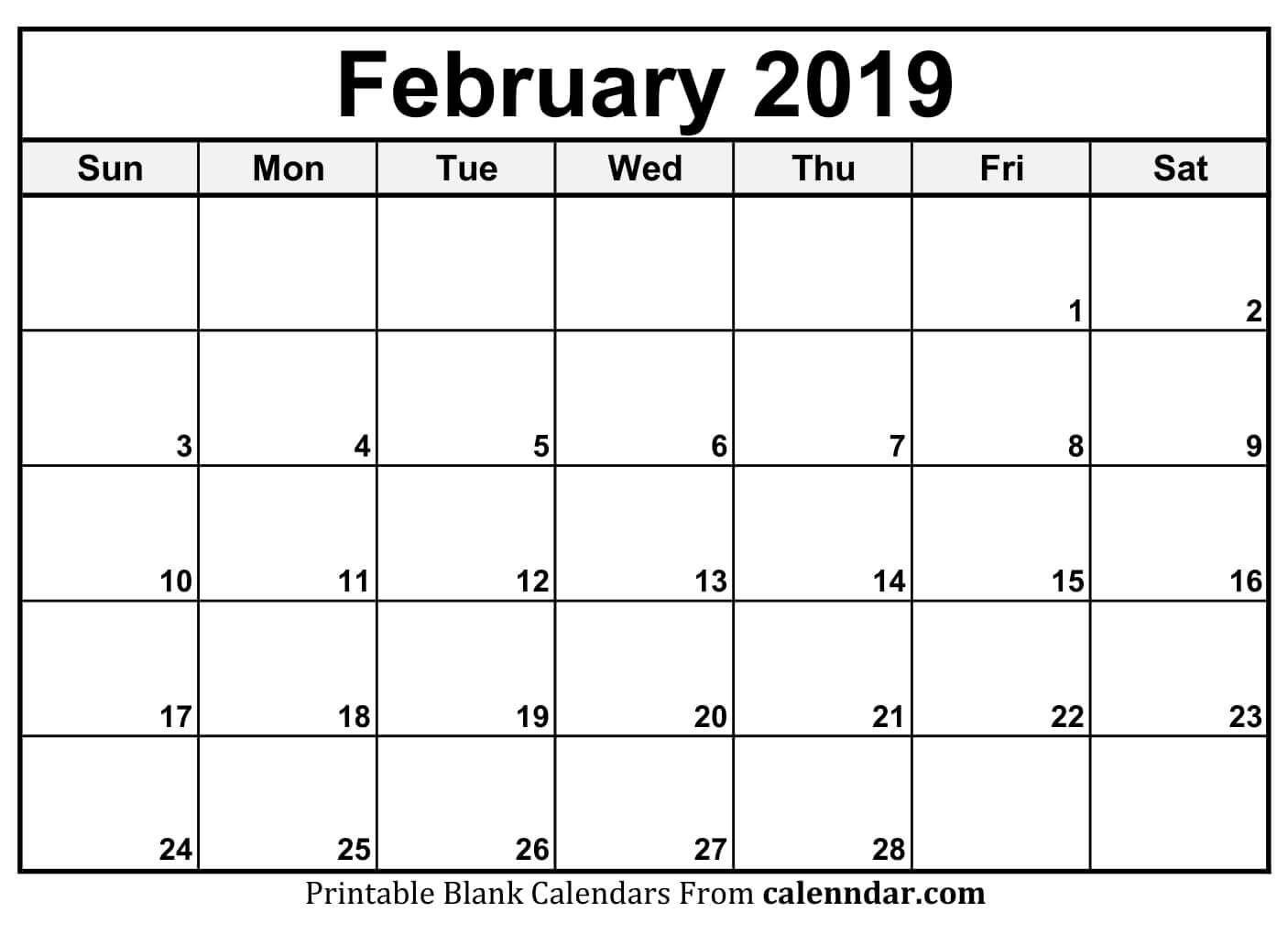 Free February 2020 Calendar A4 Size Landscape Vertical