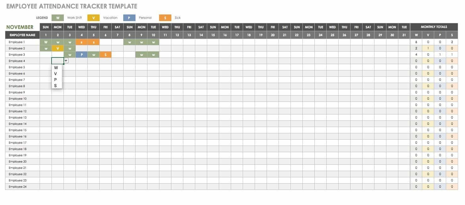 Free Human Resources Templates In Excel | Smartsheet