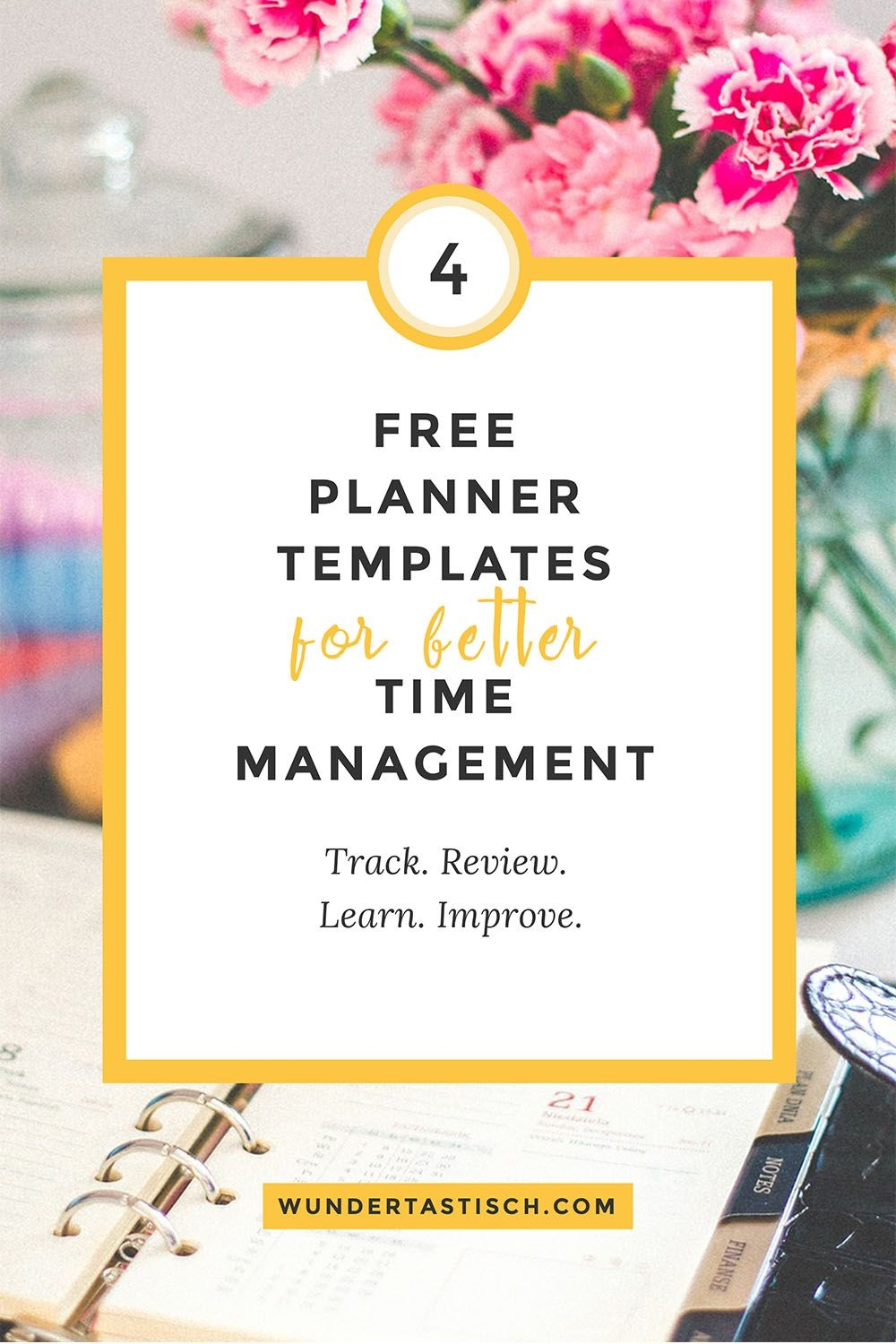 Free Planner Templates For Better Time Management