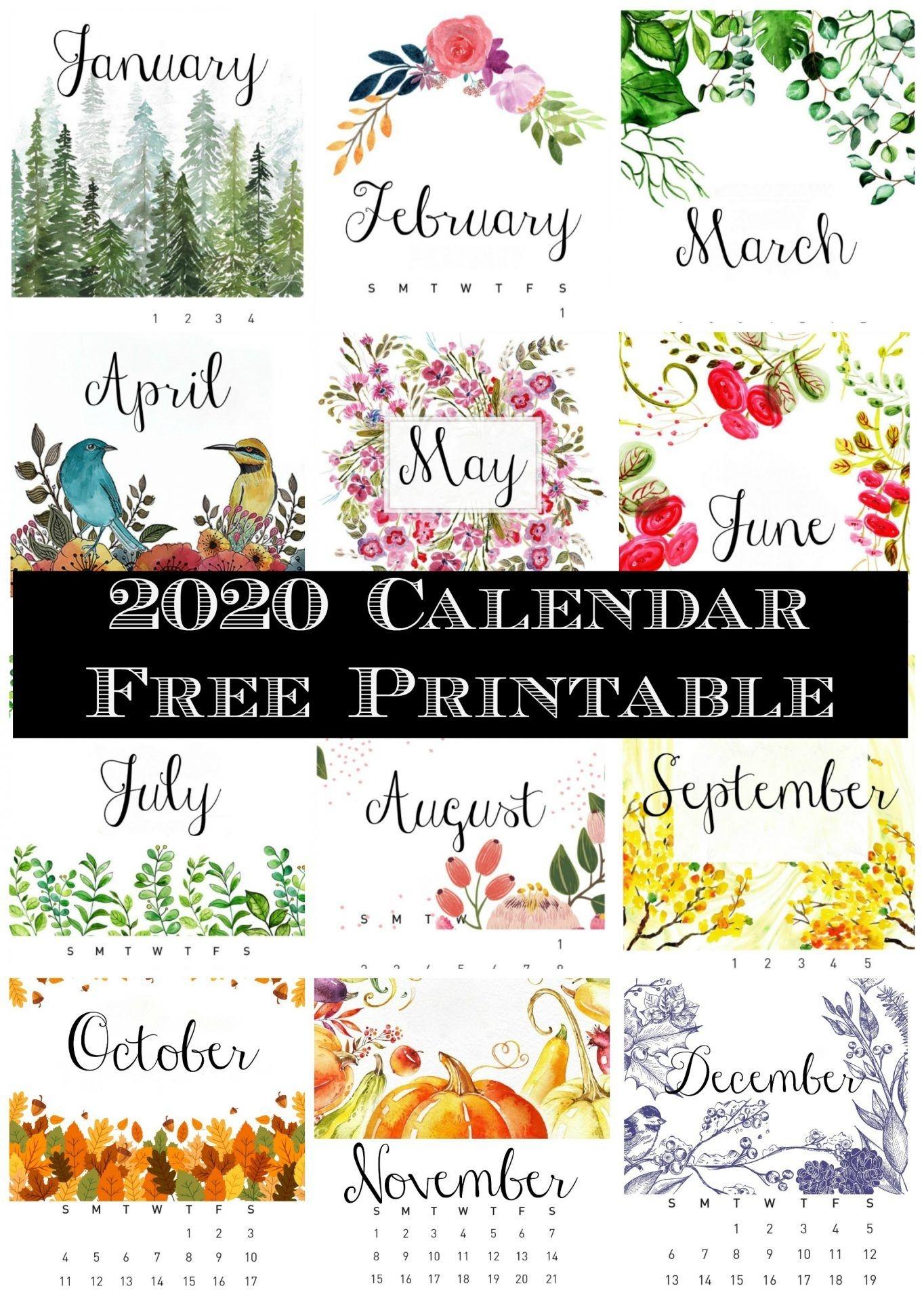 Free Printable 2020 Calendar - 2 Bees In A Pod