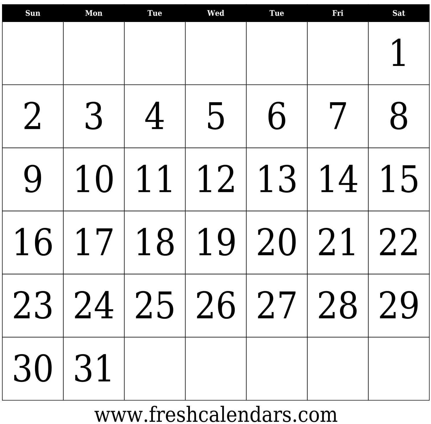 Free Printable 2020 Calendar   Calendar Template, Blank