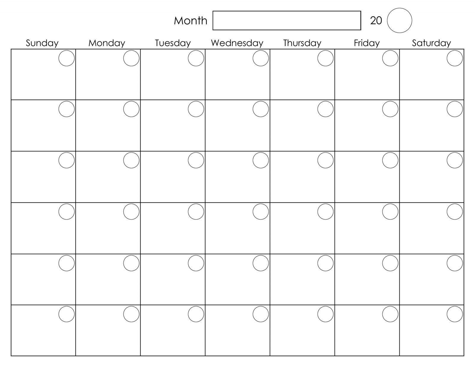 Free Printable 2020 Calendar Template Pdf, Word, Excel, Page