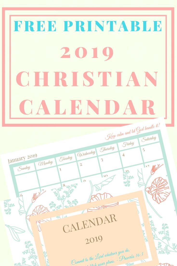 Free Printable 2020 Christian Calendar And Planner