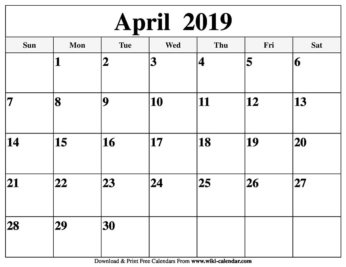 Free Printable April 2020 Calendars | Printable Calendar