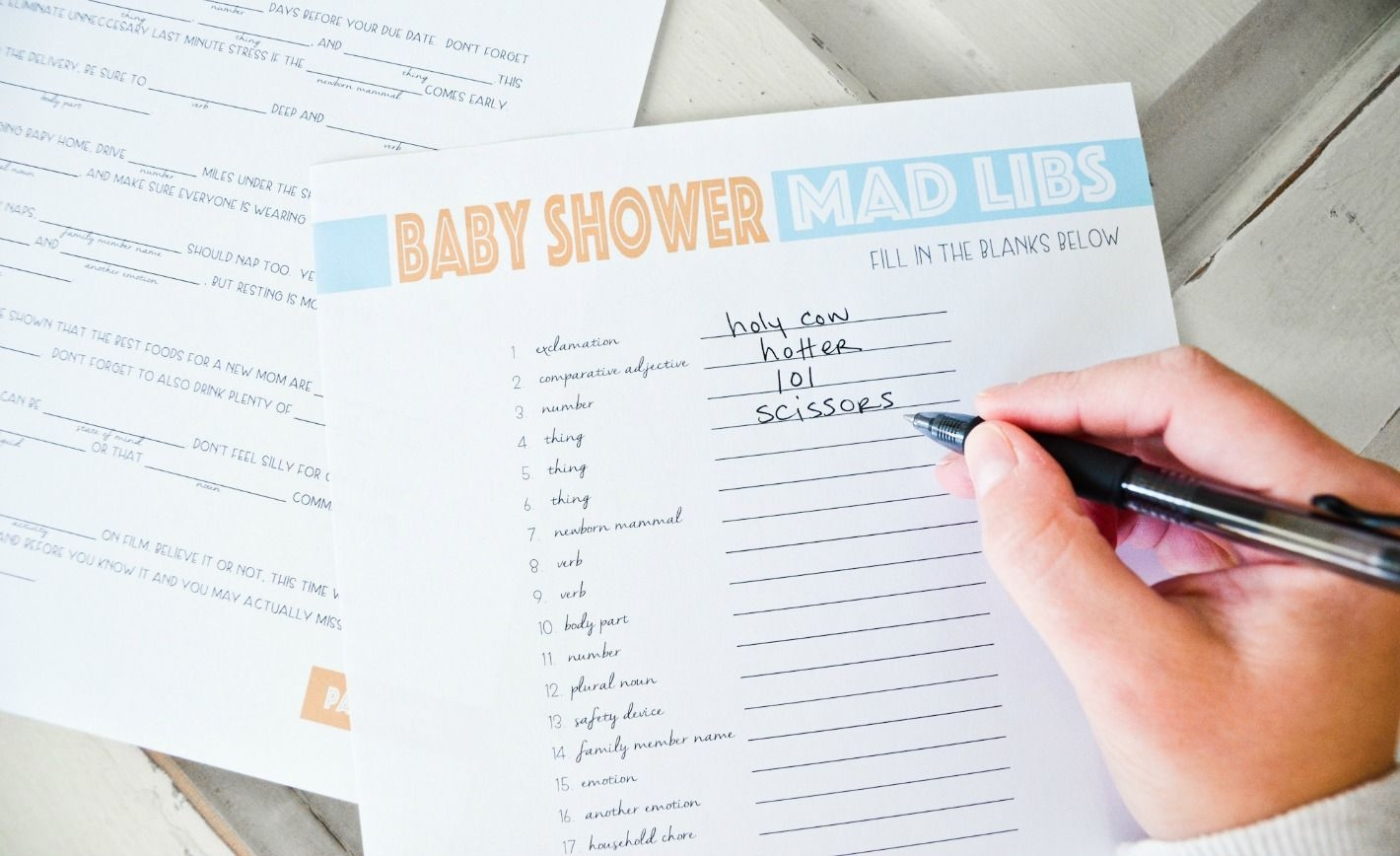 Free Printable Baby Shower Mad Libs - Project Nursery