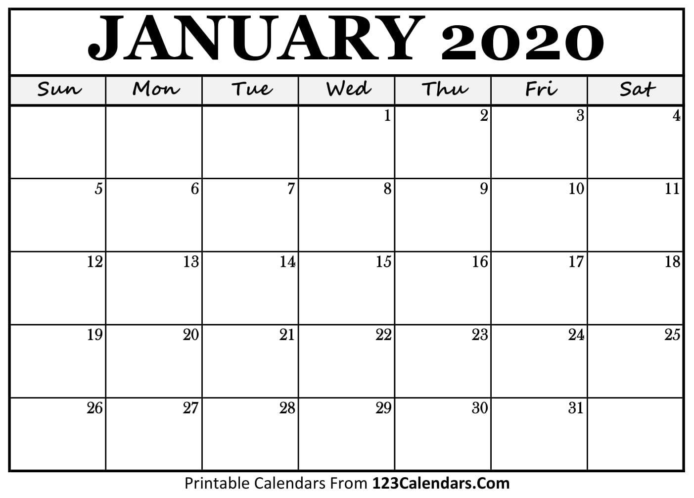 Free Printable Calendar | 123Calendars