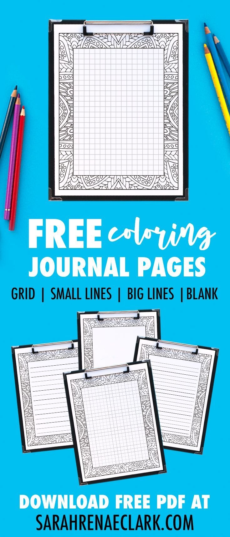 Free Printable Coloring Journal Pages (With Images