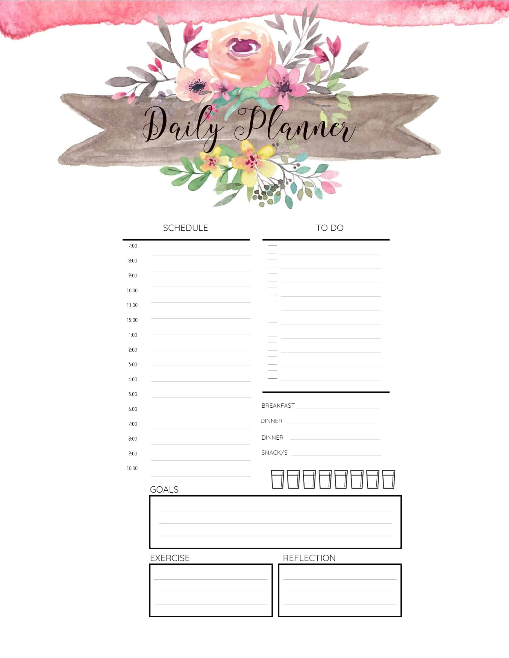 Free Printable Hourly Planner - Daily, Weekly Or Monthly