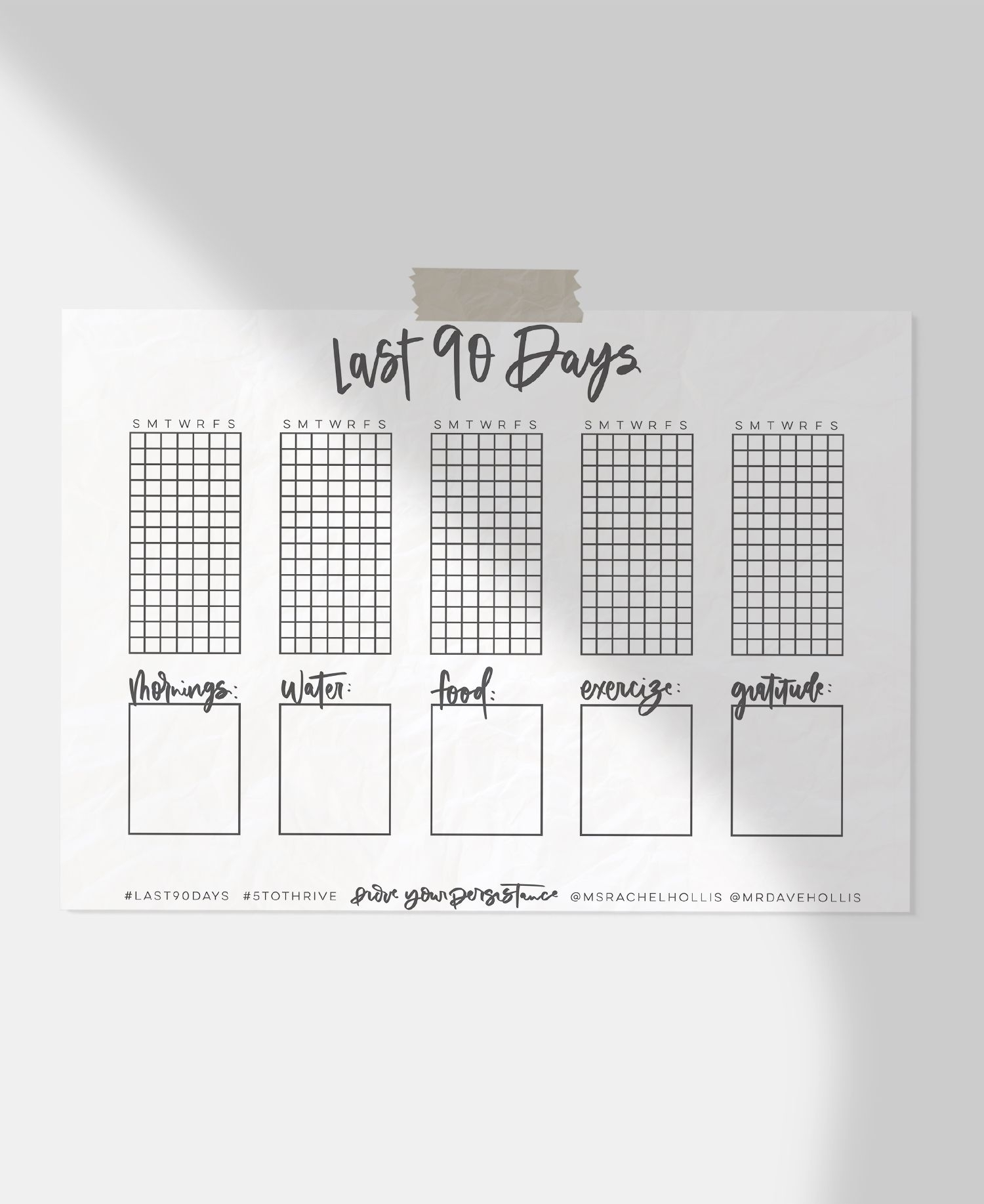 Free Printable Last 90 Days Tracker - Lemon Thistle