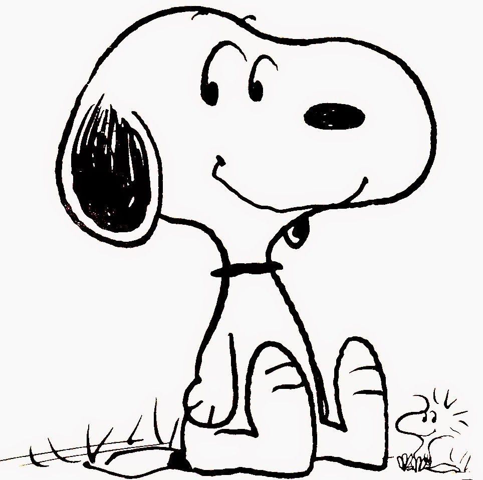 Free Printable Snoopy Coloring Pages - Clip Art Library
