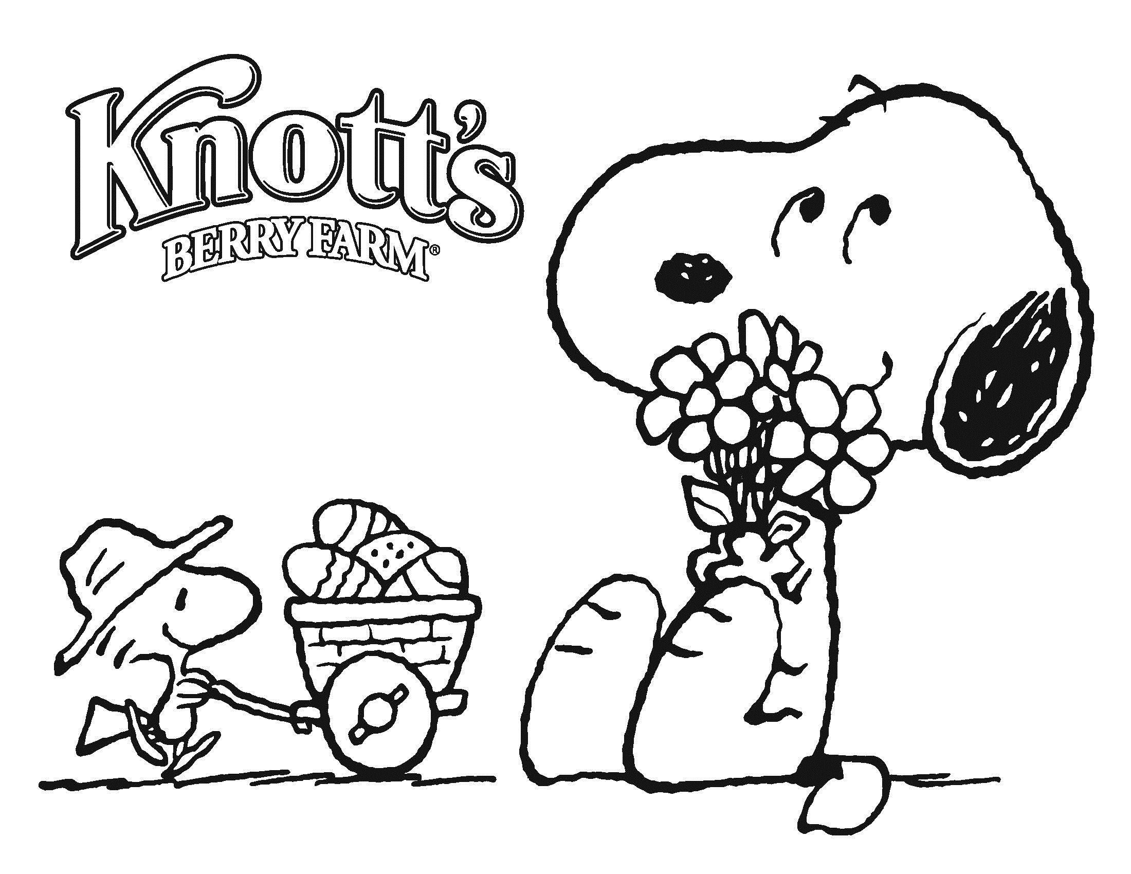 Free Printable Snoopy Coloring Pages For Kids