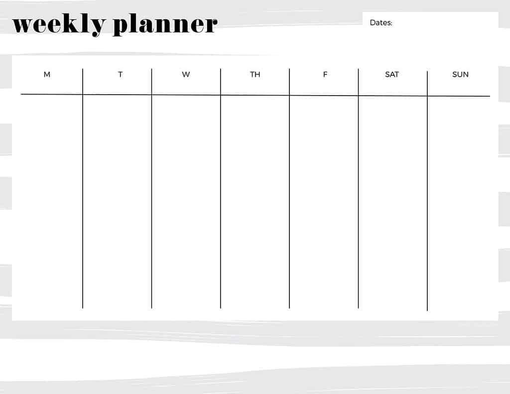 Free Printable Weekly Calendars — Get Your Week Organized!