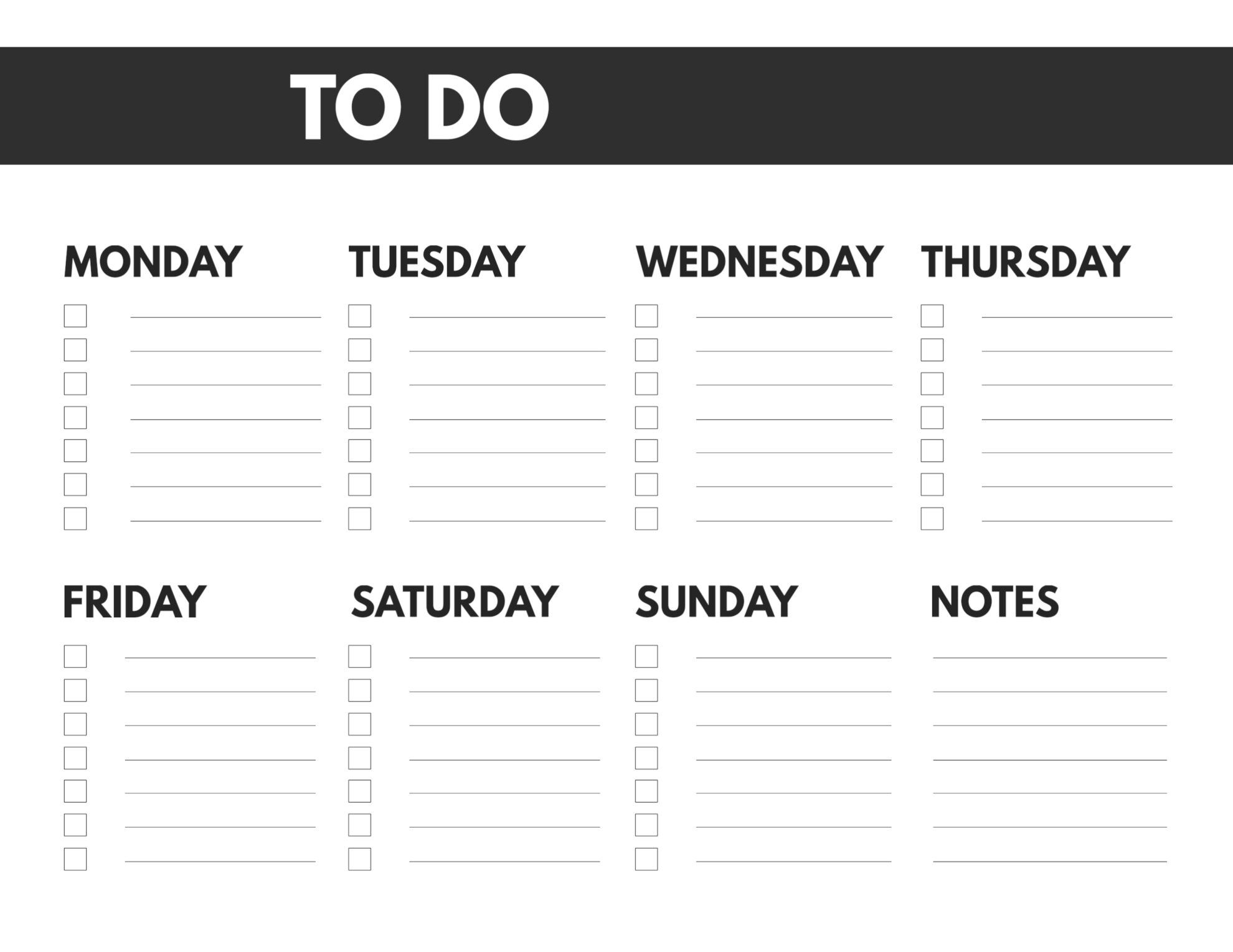 Free Printable Weekly To Do List - Paper Trail Design
