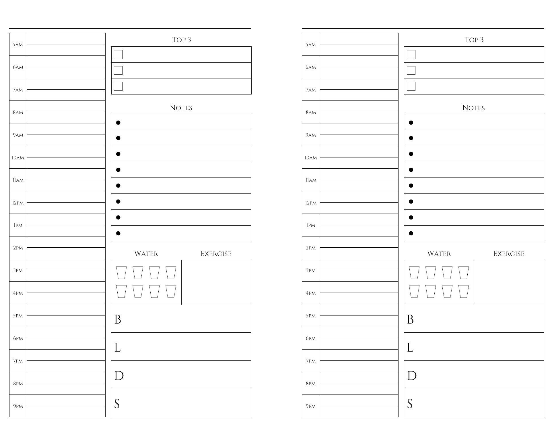 Free Printables | Daily Planner Printables Free, Daily