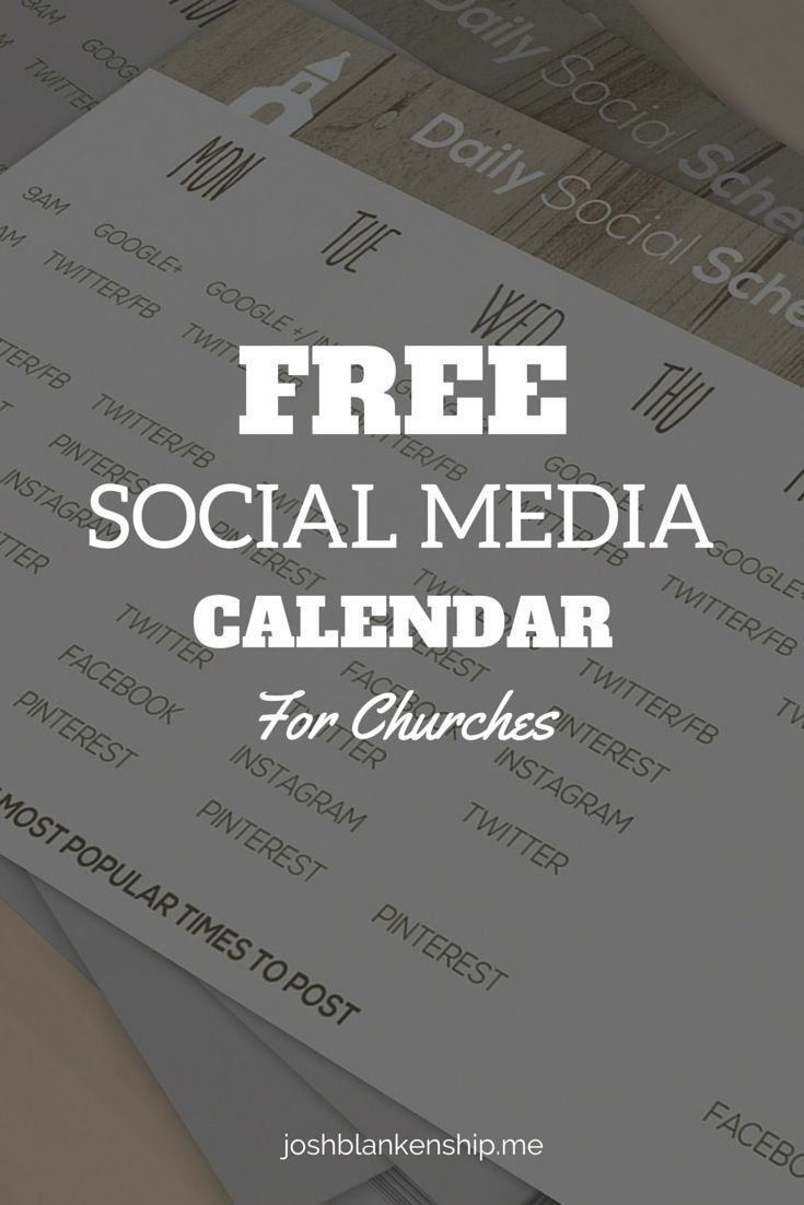 Free Social Calendar For Churches (With Images) | Social