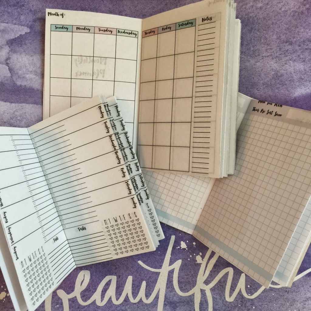 Free Traveler's Notebook Inserts Printables (Monthly, Weekly