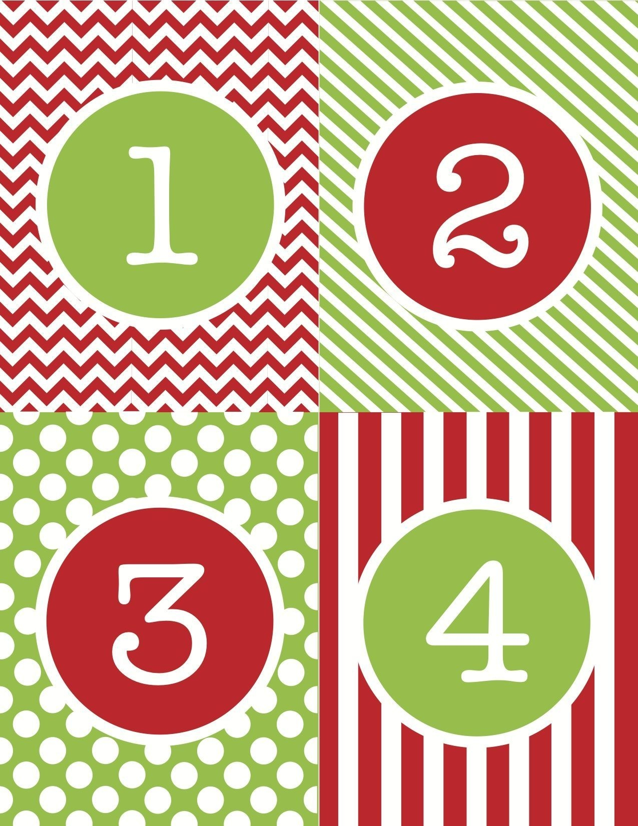 Free+Printable+Advent+Calendar+Numbers (With Images