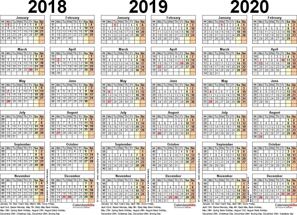 Fresh Printable Multi Year Calendar