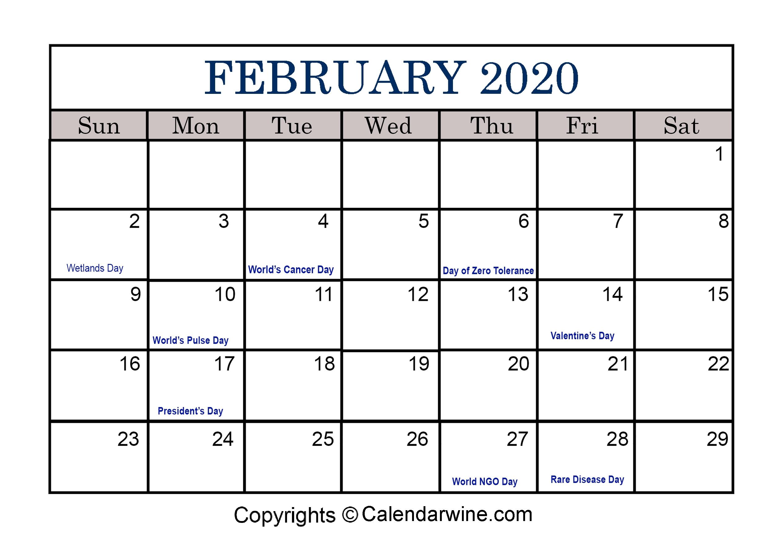 Full List Of February Holidays 2020 For Usa Uk Canada