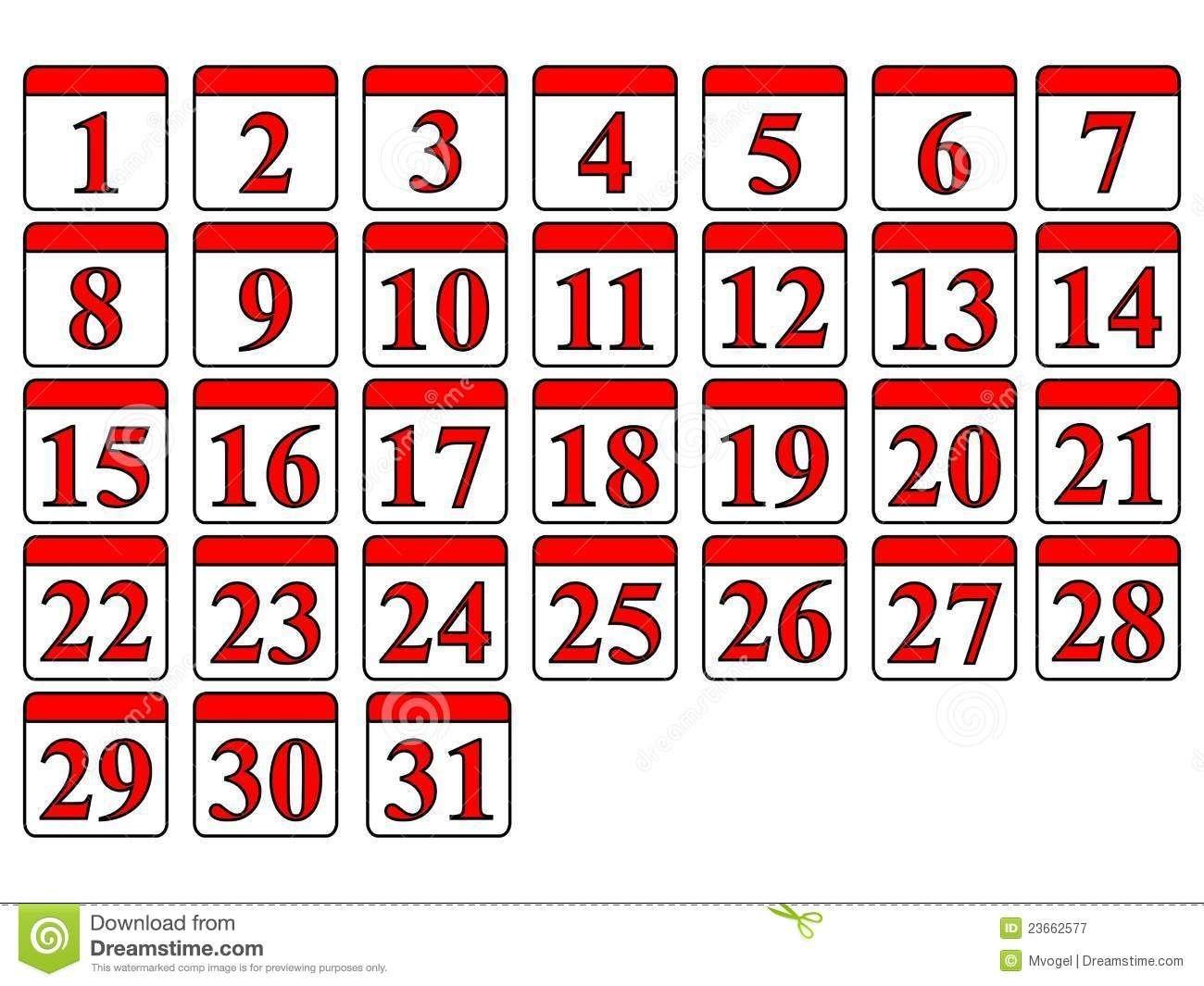 Generic Calendar Stock Vector. Illustration Of Date, Twelve