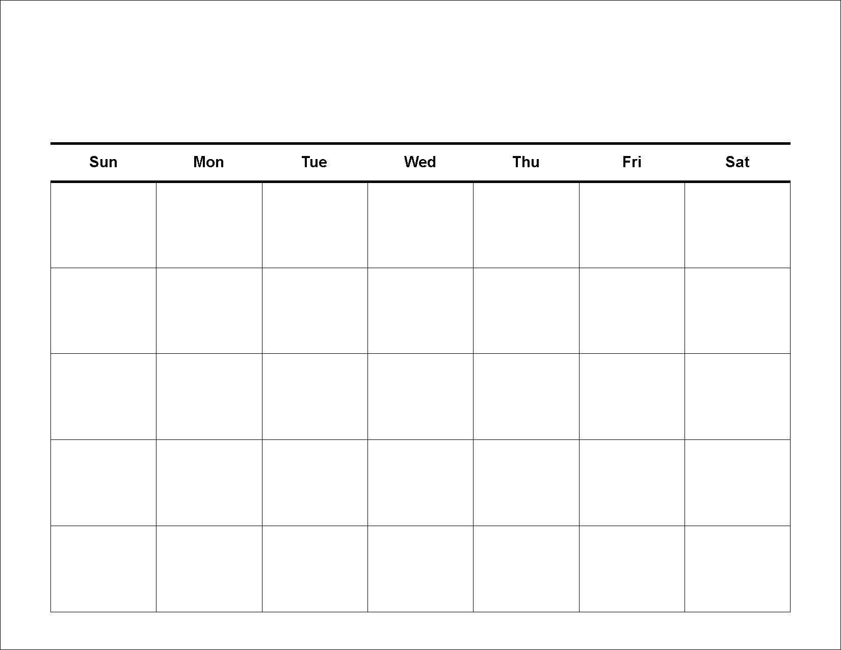 Get 30 Day Calendar Blank Printable Template Pdf Download