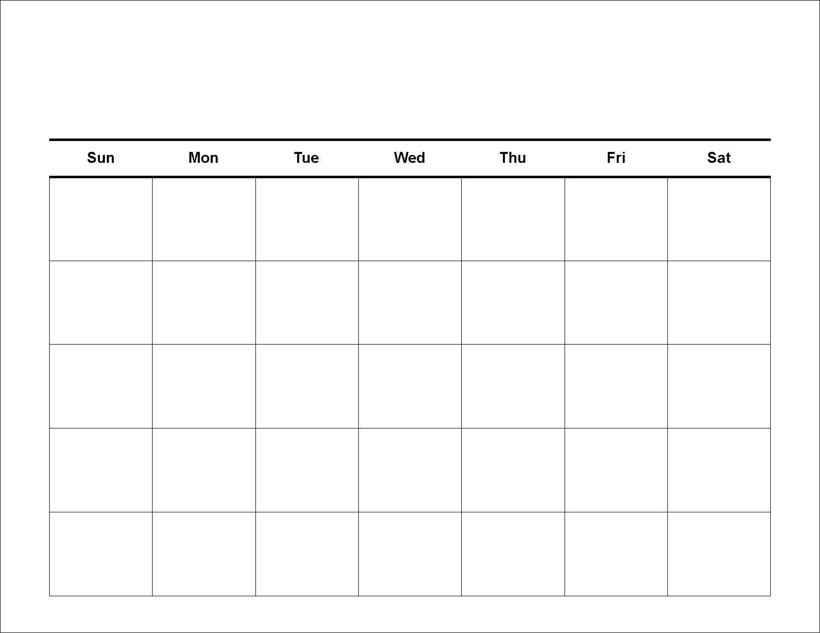 Get 30 Day Calendar Blank Printable Template Pdf Download