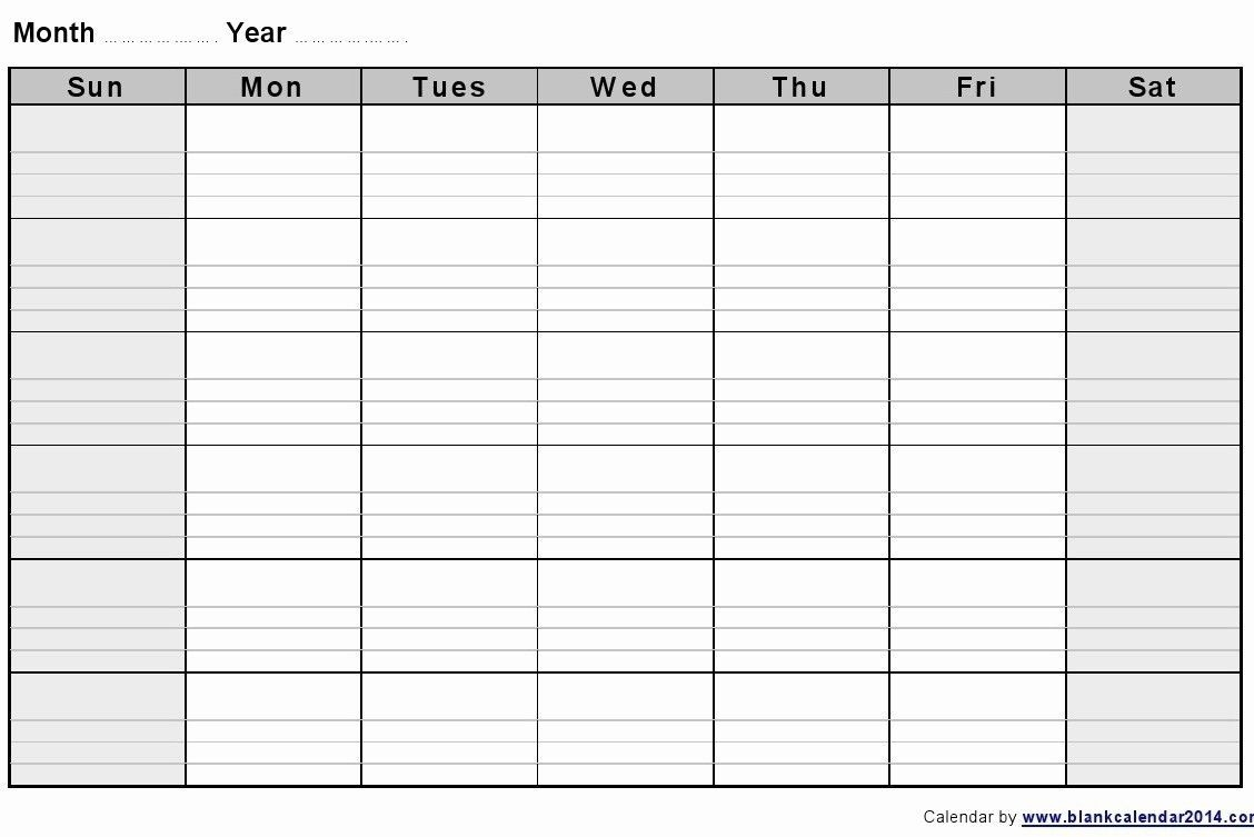 Get Blank 2 Week Printable Calendar (With Images) | Blank