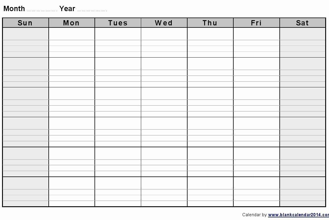 Get Blank 2 Week Printable Calendar (With Images)   Blank