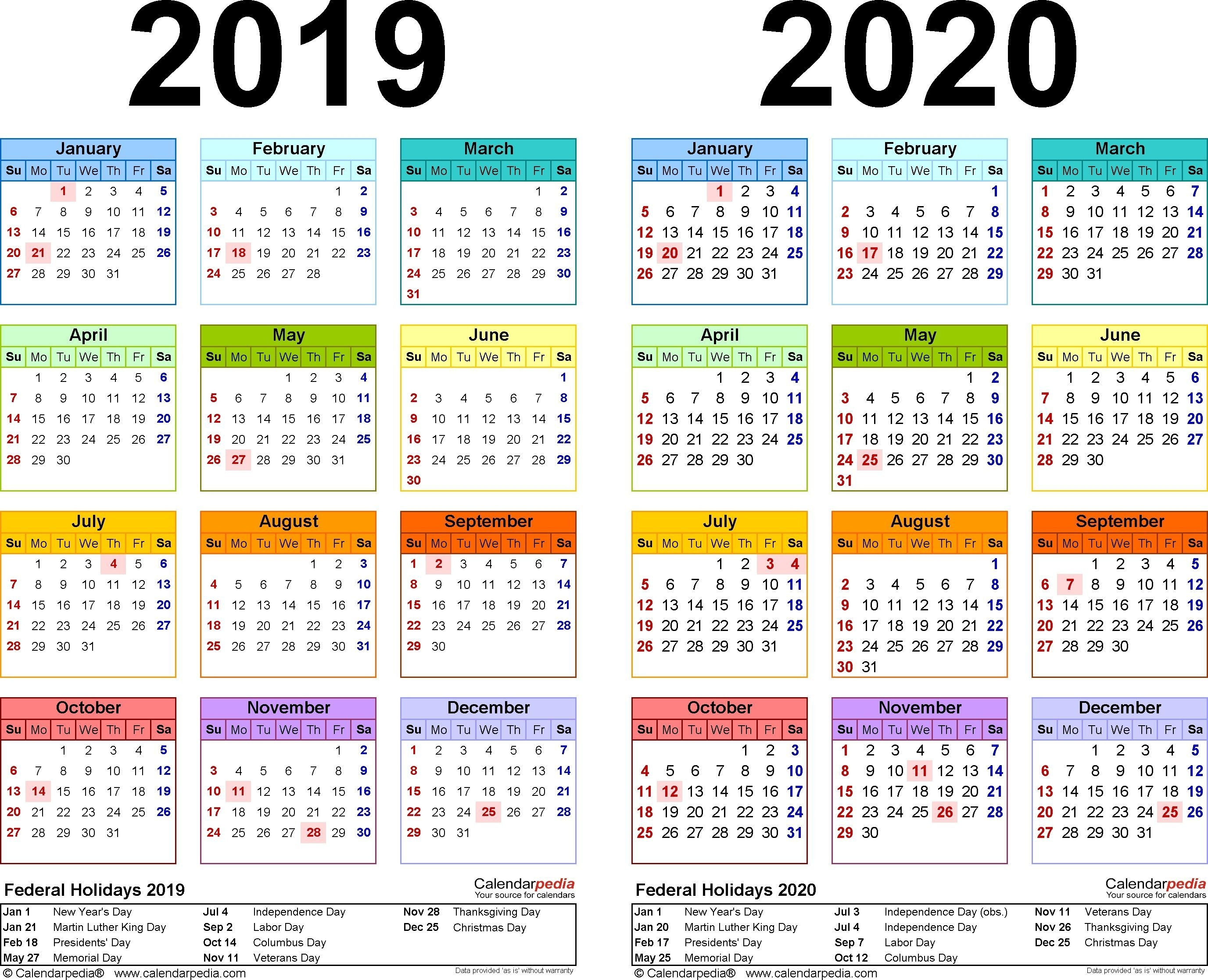 Get Printable Calendars Usa 2019-2019 School-Year (With