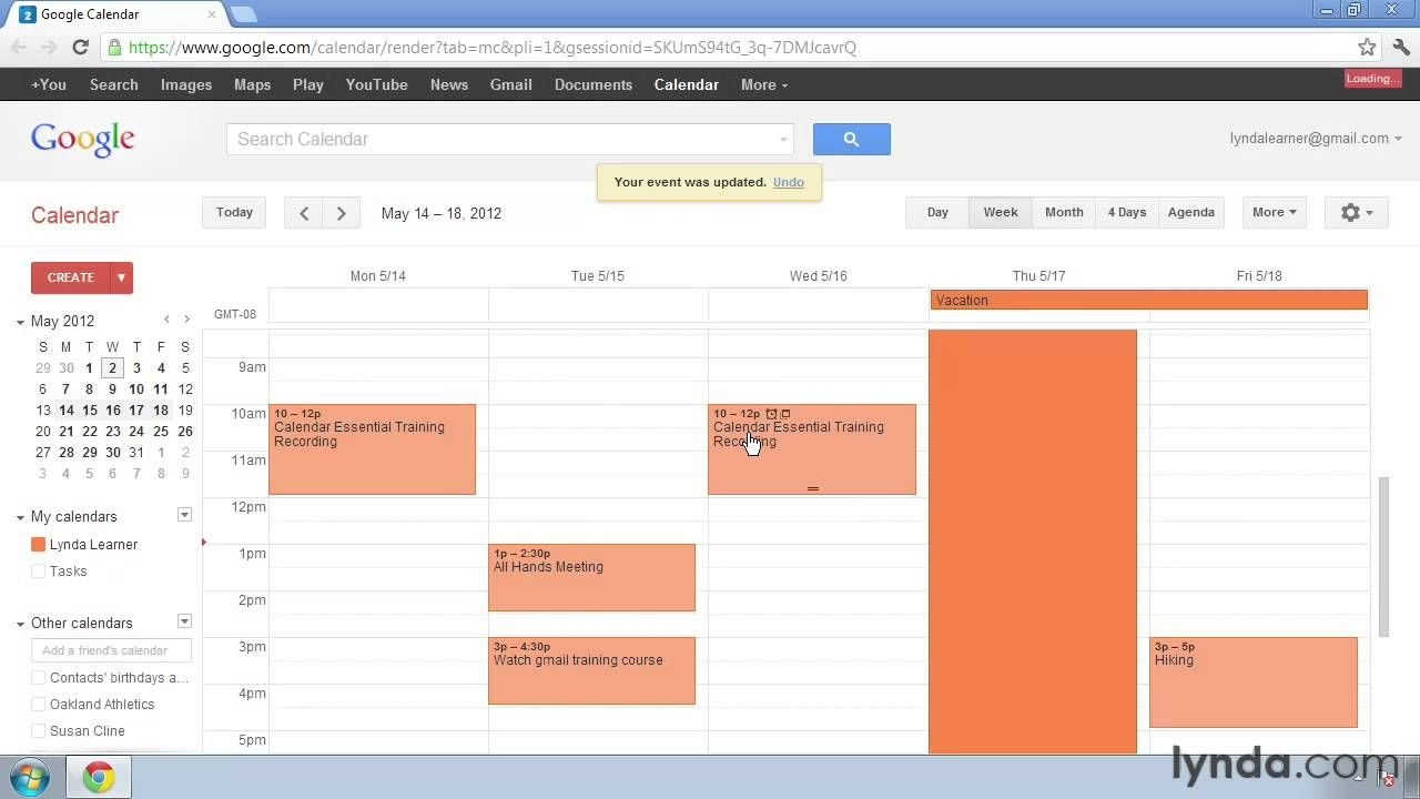 Google Calendar Tutorial: How To Change Reoccurring Events | Lynda